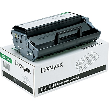 Lexmark™ 12A7405 Black Toner Cartridge, High Yield