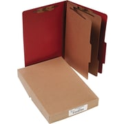 "ACCO Pressboard Classification Folder  6 Parts,  Earth Red, Legal size Holds 8 1/2"" x 14"", 10/Pk"
