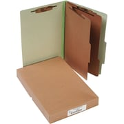 "ACCO Pressboard Classification Folder  6 Parts,  Leaf Green, Legal size Holds 8 1/2"" x 14"", 10/Pk"