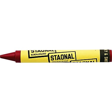 Crayola® Staonal Marking Crayon, 5in. Long, 9/16in. Diameter, Red