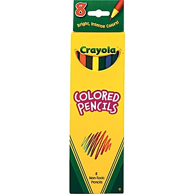 Crayola® Long Colored Pencils, 8-Color Set
