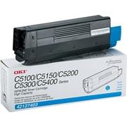 OKI 42127403 Cyan Toner Cartridge, High Yield