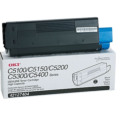 OKI 42127404 Black Toner Cartridge, High Yield