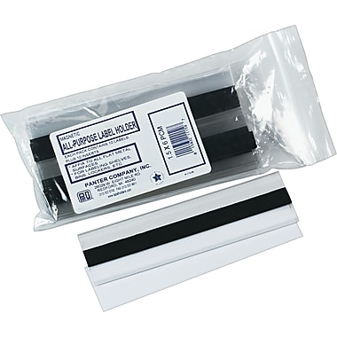 Clear Magnetic Label Holders, 6in. x 1-1/2in., 10/Pack