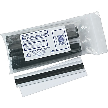 Clear Magnetic Label Holders, 6in. x 1in., 10/Pack