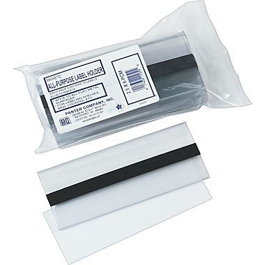 Clear Magnetic Label Holders, 6in. x 2-1/2in., 10/Pack