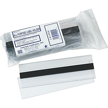 Clear Magnetic Label Holders, 6in. x 2in., 10/Pack