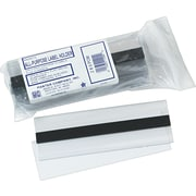 "Clear Magnetic Label Holders, 6"" x 2"", 10/Pack"