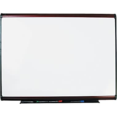 Quartet® Prestige Plus® DuraMax® Porcelain Dry-Erase Board with Mahogany Finish Frame, 4'x3'