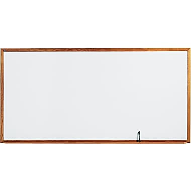 Quartet® Melamine Dry-Erase Board with Oak Finish Frame, 8' x 4'