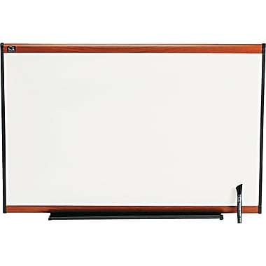 Quartet® Prestige® Total Erase® Dry-Erase Boards with Light Cherry Frame