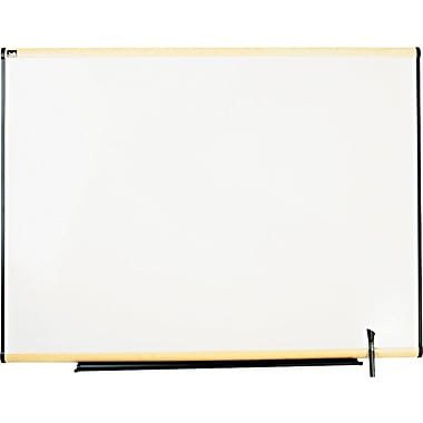 Quartet® Prestige® Total Erase® Whiteboard, 4' x 3', Light Maple Finish Frame, Writing Grid (TE544MA)