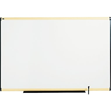 Quartet® Prestige® Total Erase® Dry-Erase Board with Light Maple Finish Frame, 6' x 4'
