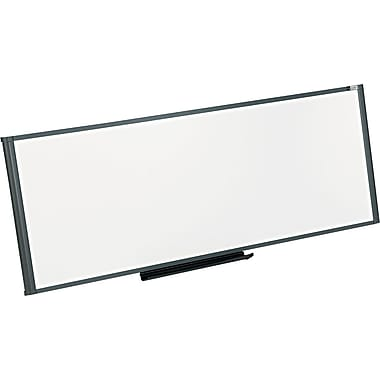 Quartet® Prestige® Total Erase® Cubicle Dry-Erase Board with Graphite Frame, 48in. x 18in.