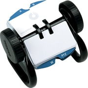 Rolodex® Metal Open Rotary Card File,  Black, 1 3/4 x 3 1/4, 250 Card Capacity