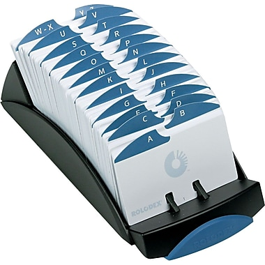 Rolodex VIP Series Open Card File, Black, 2 1/4in. x 4in.