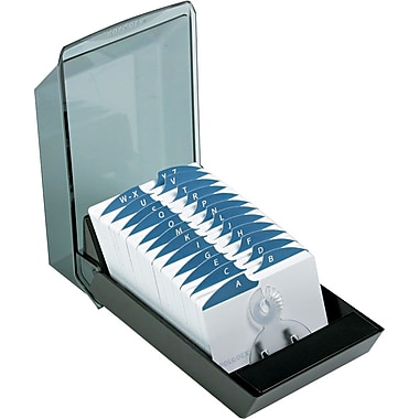 Rolodex® VIP Series Covered Card Files, 2 1/4
