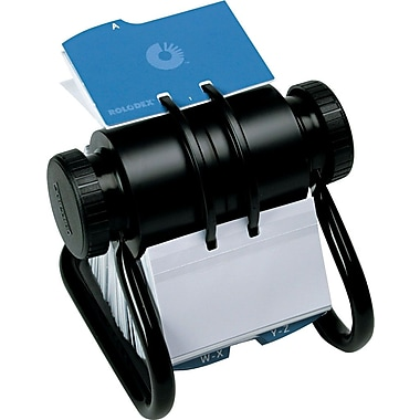 Rolodex Rotary Open Business Card File, 300 Cards/300 Sleeves, 600 Card Capacity