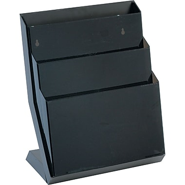 Rubbermaid® Desktop Smoke Classic Hot File®, 3 compartment