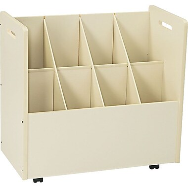 Laminate Mobile Roll File, 8-7in. x 7in. Bins, White, 29 1/8in.Hx  30 1/8in.W x 15 3/4in.D