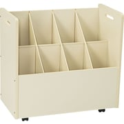 Laminate Mobile Roll File, 8-7 x 7 Bins, White, 29 1/8Hx  30 1/8W x 15 3/4D