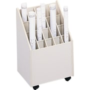 Laminate Mobile Roll File, 20-2 3/4 x 2 3/4 Bins, White, 23 1/4H x 15 1/4W x 13 1/8D