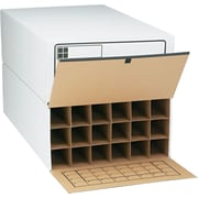 Safco® Tube-Stor 4-Drawer Fiberboard Roll File Cabinet for 18 Tubes, White, Specialty (3094)