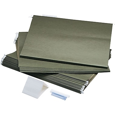 Safco Large Document Hanging File Folders, 25/Box