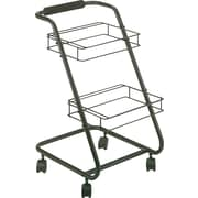 """Safco® Jazz™ Two-Tier File Cart, Letter, Black, 27 3/4""""H x 16""""W x 20 1/2""""D"""
