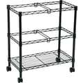 Safco Two Tier File Cart, Black