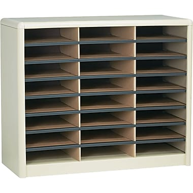 Safco® Value Sorter Literature Organizer, 24 Compartment, 32 1/4in. x 13 1/2in.x 25 3/4in., Sand