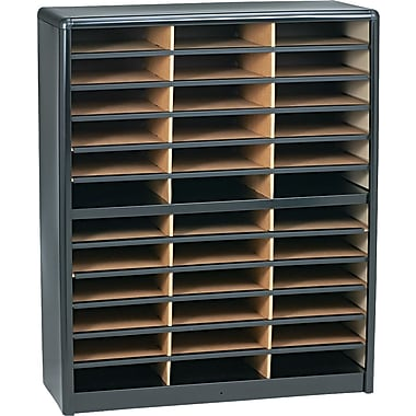 Safco® Value Sorter Literature Organizer, 36 Compartment, 32 1/4in. x 13 1/2in. x 38in.,  Black