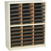 Safco® Value Sorter Literature Organizer, 36 Compartment, 32 1/4 x 13 1/2 x 38, Sand