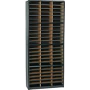 Safco® Value Sorter Literature Organizer, 72 Compartment, 32 1/4 x 13 1/2 x 75, Black