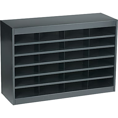 Safco® EZ STOR Literature Organizer, 24 Compartment, 37 1/2in.x 12 3/4in.x 25 3/4in., Black