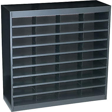 Safco® EZ STOR Literature Organizer, 36 Compartment, 37 1/2in.x 12 3/4in.x 36 1/2in., Black
