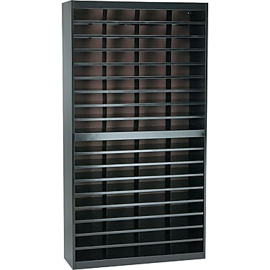 Safco® EZ STOR Literature Organizer, 72 Compartment, 37 1/2in.x 12 3/4in.x 71in., Black