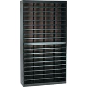 Safco® EZ STOR Literature Organizer, 72 Compartment, 37 1/2x 12 3/4x 71, Black