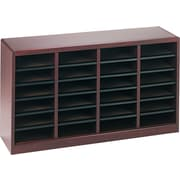 Safco E-Z STOR® 24 Compartment Wood Literature Organizer, 40 x 11 3/4 x 23, Mahogany
