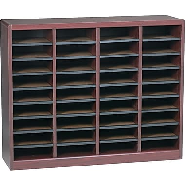 Safco E-Z STOR® 36 Compartment Wood Literature Organizer, 40
