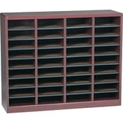 "Safco E-Z STOR® 36 Compartment Wood Literature Organizer, 40"" x 11 3/4"" x 32 1/2"", Mahogany"