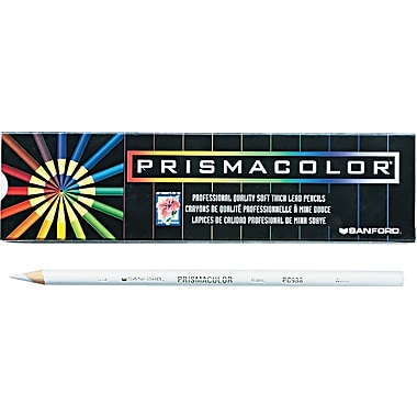 Prismacolor Colored Pencils, White, 12/Pack (3365)