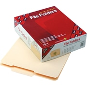 "Smead Guide Height Top-Tab File Folders, 2/5 Cut, 2nd-Position, Manila, LETTER-size Holds 8 1/2"" x 11"", 100/Bx"