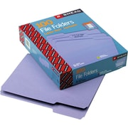 Smead Lavender File Folders, 1/3 Tab Cut, LETTER-size Holds 8 1/2 x 11, 100/Box