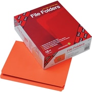 "Smead File Folders, Orange, Letter,  8 1/2"" x 11"", 100/Bx"