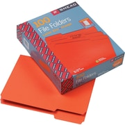 Smead® File Folder, 1/3-Cut Tab, Letter Size, Orange, 100/Box (12543)