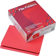 Smead®  File Folder, Reinforced Straight-Cut Tab, Letter Size, Red, 100 per Box (12710)
