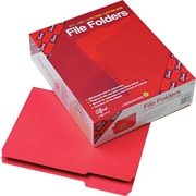 Smead Red File Folders, LETTER-size Holds 8 1/2 x 11, 100/Box