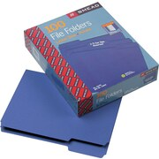 Smead Purple File Folders, 1/3 Tab Cut, Letter-size Holds 8 1/2 x 11, 100/Box