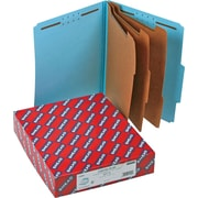 "Smead Classification Folders, 8-Section, 2/5 Cut, Blue, LETTER-size Holds 8 1/2"" x 11"", 10/Bx"